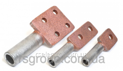 Clip hardware cast with a copperplated covering of