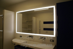 Mirror with LED illumination of the BOCA series