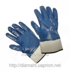 Gloves a nitrile thickened with rigid to cuffs