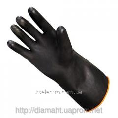 Gloves black strengthened