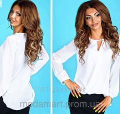 Женская белая шифоновая блуза оригинального