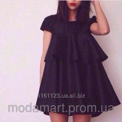 Женское платье клеш воланы черного цвета Размер