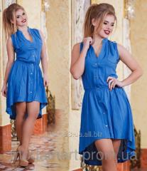 Женское короткое платье удлиненное