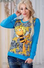 Женский свитшот  с рисунком Пчелка