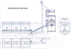 Модуль приготовлени и фасовки удобрений с