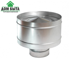 The deflector from galvanized metal with a