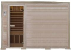 Five-seater infrared sauna with carbonic radiators