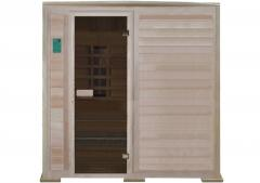 Triple infrared sauna with ceramic radiators of