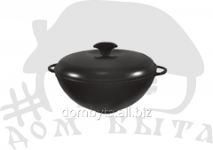 WOK pan with a cover (d=340 of mm h=155 of mm of