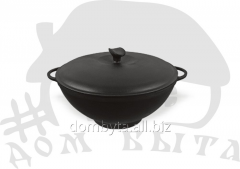 WOK pan with a cover (d=300 of mm h=130 of mm of