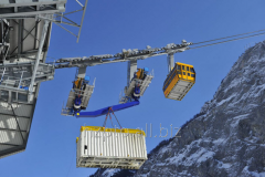 Cargo suspended ropeways