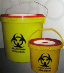 The container for collecting and disinfection of