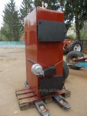 Котел газогенераторный, твердотопливный 90 кВт, цвет красный