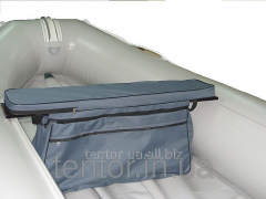 Bag luggage carrier under a seat with a soft slip