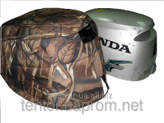 Cover on a cowl of the boat Honda 8 motor