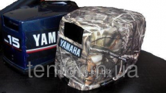Cover on a cover a cowl of the boat Yamaha 15
