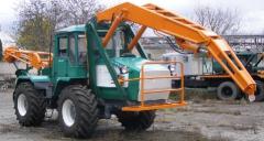 Boring and crane BKM-2M car