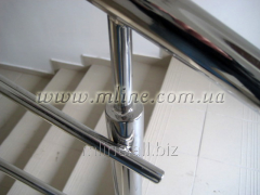 Handrail is welded