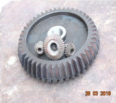 Conic gear wheels on a selskokhoztekhnik