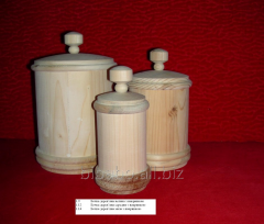 Capacities for loose products wooden