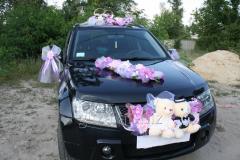 Decoration of the wedding car - bears wedding on a