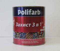 Acrylic soil-enamel of 3 in 1 Zakhist for iron and