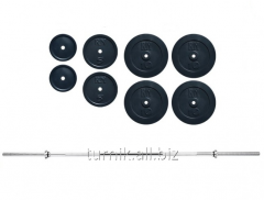 Штанга 120 кг с гранилитовыми дисками (код SH-6)