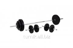 Set of dumbbells with a bar (95 kg + 2х16 kg)