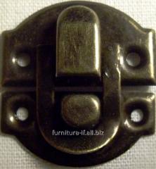 Защелка для шкатулок, код А-020 латунь