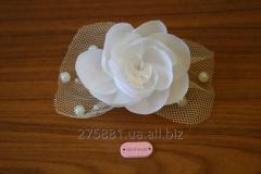 Wedding hairpin of handwork, white with a handwork