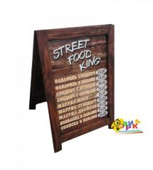 Pavement sign the book in style of a country