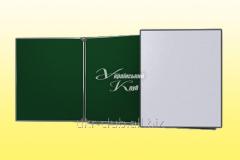 Board classroom 3-folding green + white 3000х1000