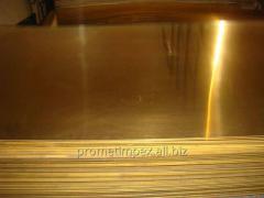 Латунные листы Л63 толщиной 0,4-12,0 мм