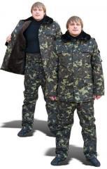 Бушлати й куртки утеплені камуфлированние
