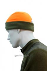 Шапка флисовая olive-orange 6841/3-58 LikeProfi