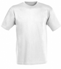 The t-shirt is man's white