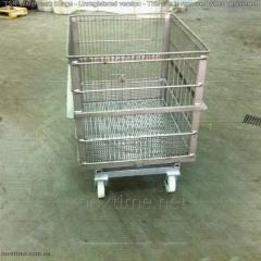 El carretón (cesta) para el autoclave