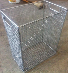 Basket from stainless steel cooking
