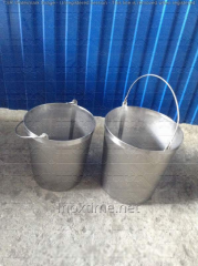 Bucket from stainless steel of 10 l.