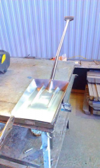 Shovel for ice from stainless steel