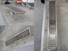 Trays sewer of stainless steel