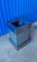 Ballot box (tank) under a package from a stainless