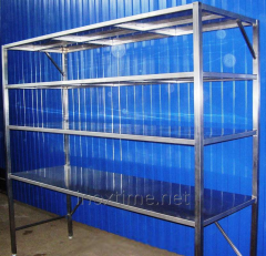 Rack warehouse of stainless steel
