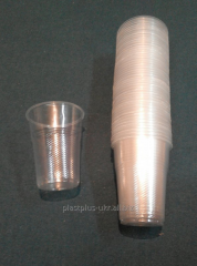 Disposable glass of 300 ml