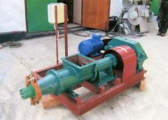 Пресс ЭБ-1000 для производства брикета из бурого