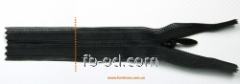 Lightning of YKK of secret 50 cm - black the