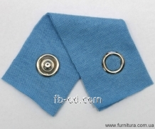 The button knitted DNG D-10,5 of mm - nickel the