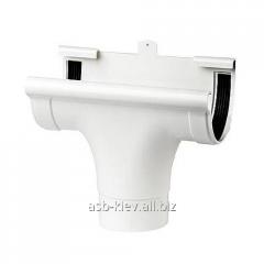 Воронка проходная Profil 130/100 мм белая