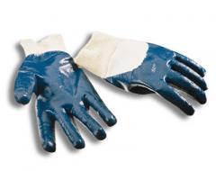 Перчатки защитные: хлопчатобумажные, покрытые нитрилом; комбинированные х/б-кожа (СПИЛОК), (ХРОМ)