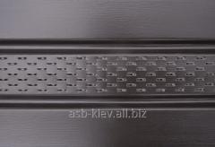 Панель Соффит перфорированная Мелкая текстура 3500*305 мм коричневая